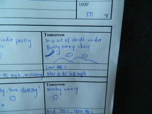Climbing Mt. Washington tomorrow... hopefully that forecast holds true!