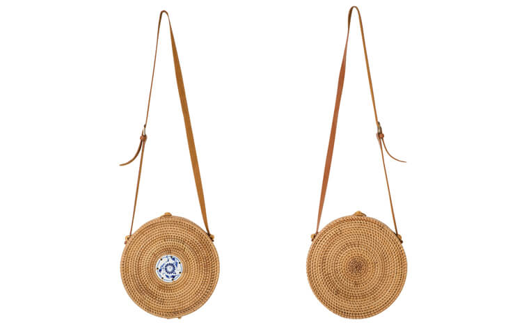 韓国ファッション通販 NAIN(ナイン)螺鈿ポイントラウンドバックパック