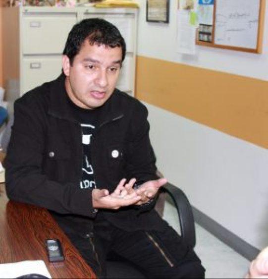 Uzcátegui afirma que protesta debe ser pacífica. Foto: Ernesto García/Cortesía