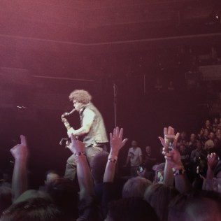 Jake Clemons, channeling his Uncle Clarence