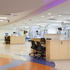 Work Alcoves in PTCU Open Patient Bay Area