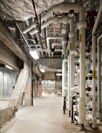 Piping to Air Handling Unit - Main Mechanical Room