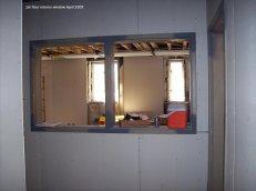 1st floor interior window