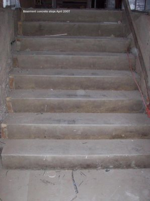 Basement concrete steps
