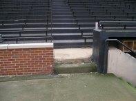 Brick wall to extend ot dugout