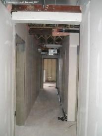 Corridor drywall