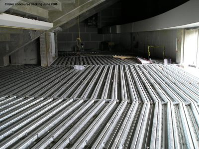 Crisler concourse decking
