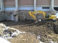Excavating to grade