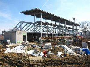 West side of stadium looking east. Looking into the concessions, locker rooms and training room areas.