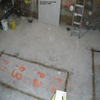 Mechanical room slab
