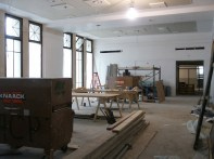 Mezzanine lobby from east