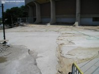 New Plaza concrete curing