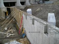 New concrete wall