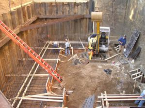 October 2004 - Areaway footing preparation