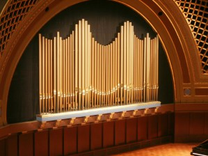 Organ Display Pipes with Restored Bronze Color
