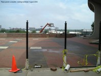 Plaza pavers complete, looking northeast