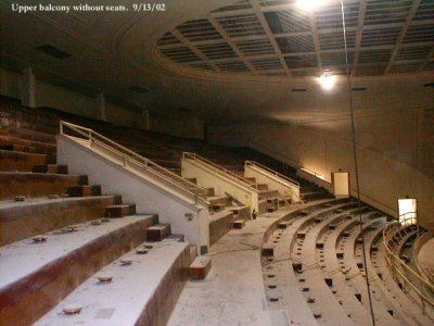 Upper balcony without seats