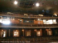 View of balconies from stage