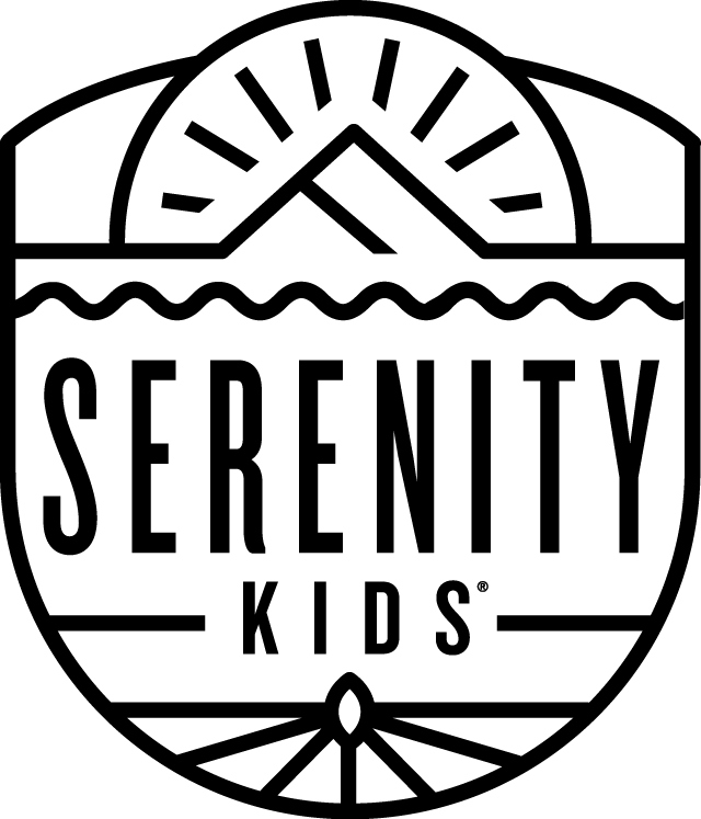 Serenity Kids logo, organic meat and veggie baby food