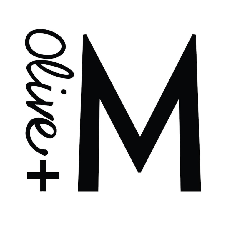 Olive and M logo, plant-based skincare