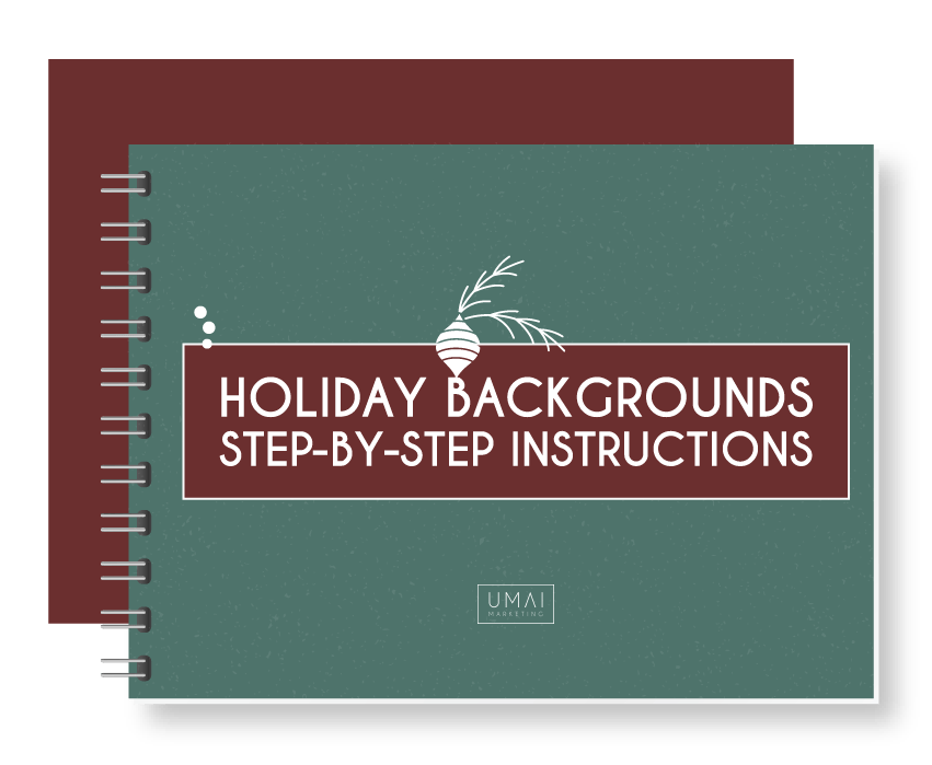 Steps for easy rebranding with holiday background templates