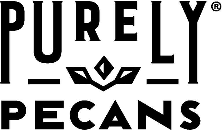 Purely Pecans logo, pecan butter and grain-free granola