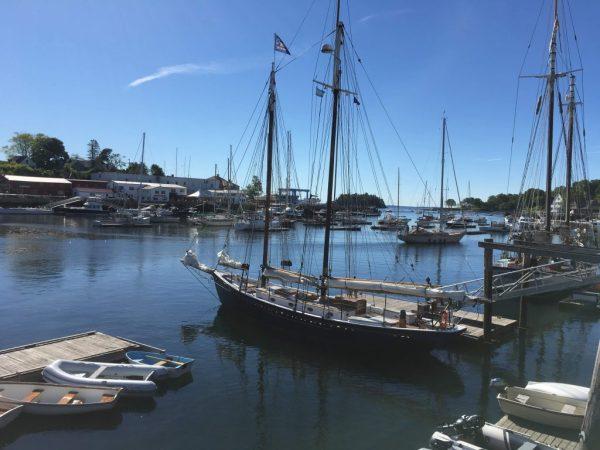 Boats in Camden Harbor.