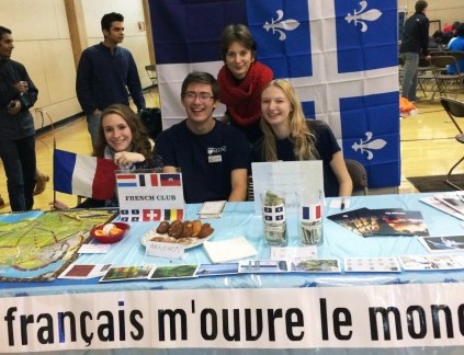 French Club Tabling at Culture Fest