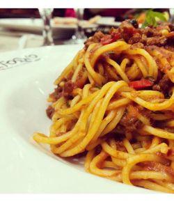 Yummilicious #foodlove #speghetti #redsauce #foodie #spicy #yum