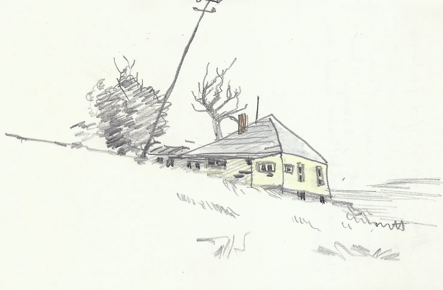 House Drawing Abandoned