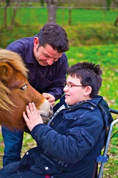 Médiation par l'animal avec cheval