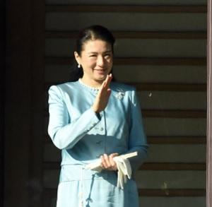 20165年一般参賀の雅子さま