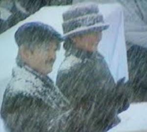 秋篠宮両殿下大雪の中のご公務