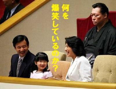 皇太一家相撲観戦の歴史