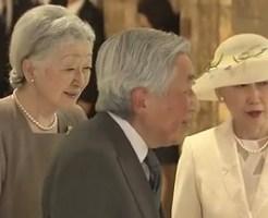 両陛下いけばな展をご鑑賞