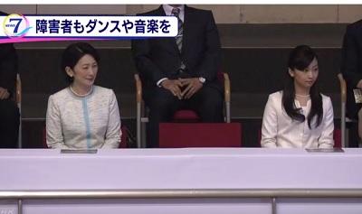 紀子さまと佳子さま 障害者ダンス大会に出席その2