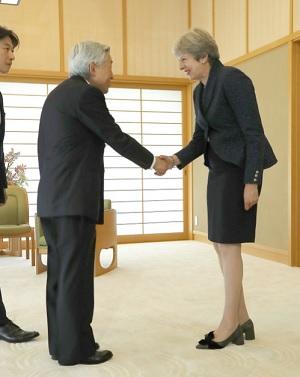 イギリスメイ首相と天皇陛下