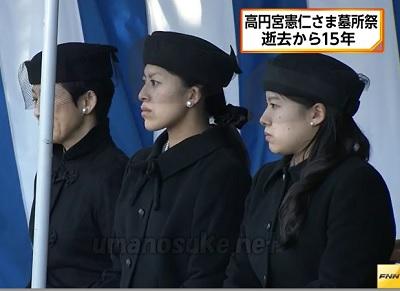 高円宮殿下ご逝去15年久子さま承子さま絢子さま