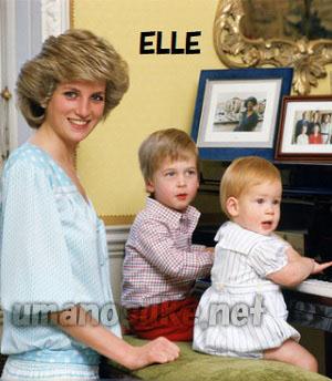 ダイアナ妃とウイリアム王子とヘンリー王子