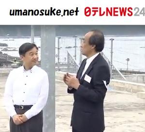 皇太子さま津波や地震の石碑をご視察