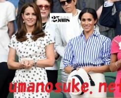 キャサリン妃とメーガン妃、ウインブルドン女子決勝観戦