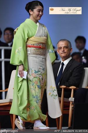 ブラジル式典に和服で登場された眞子さま