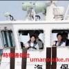 絢子さま、久子さまと2人で海洋少年団を視察
