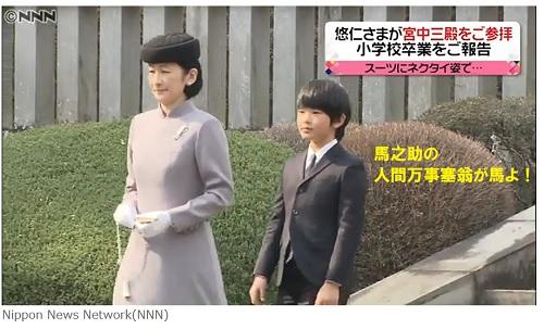 悠仁親王と紀子さまが武蔵野御陵を参拝