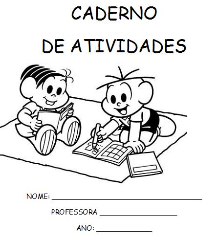 Capa: Caderno de atividades da Turma da Mônica
