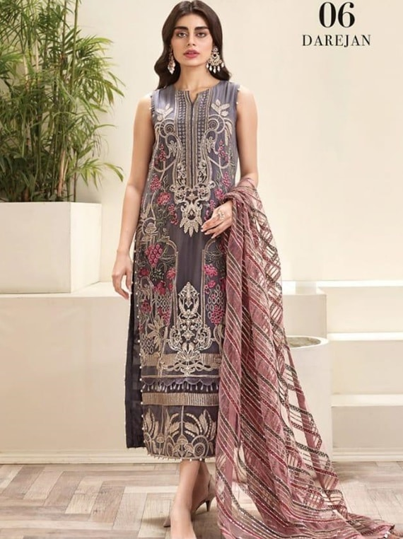 Jazmin embroidered chiffon collection