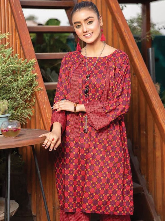 2 Piece Printed Khadar Collection by Hinna
