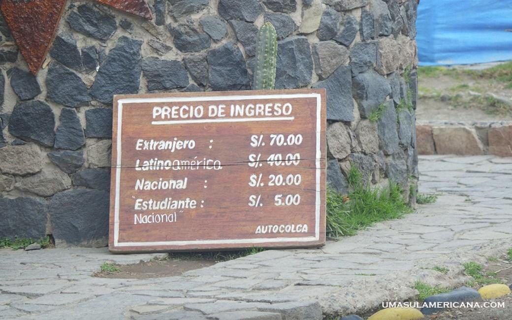 Placa Vale d o Colca - 10 motivos para viajar pela América do Sul