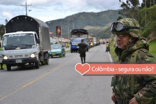 Está seguro viajar pela Colômbia