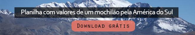 Planilha de gastos mochilão América do Sul